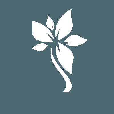 White flower iSkinPure logo