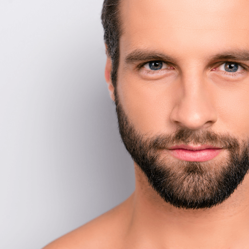 Young bearded man face