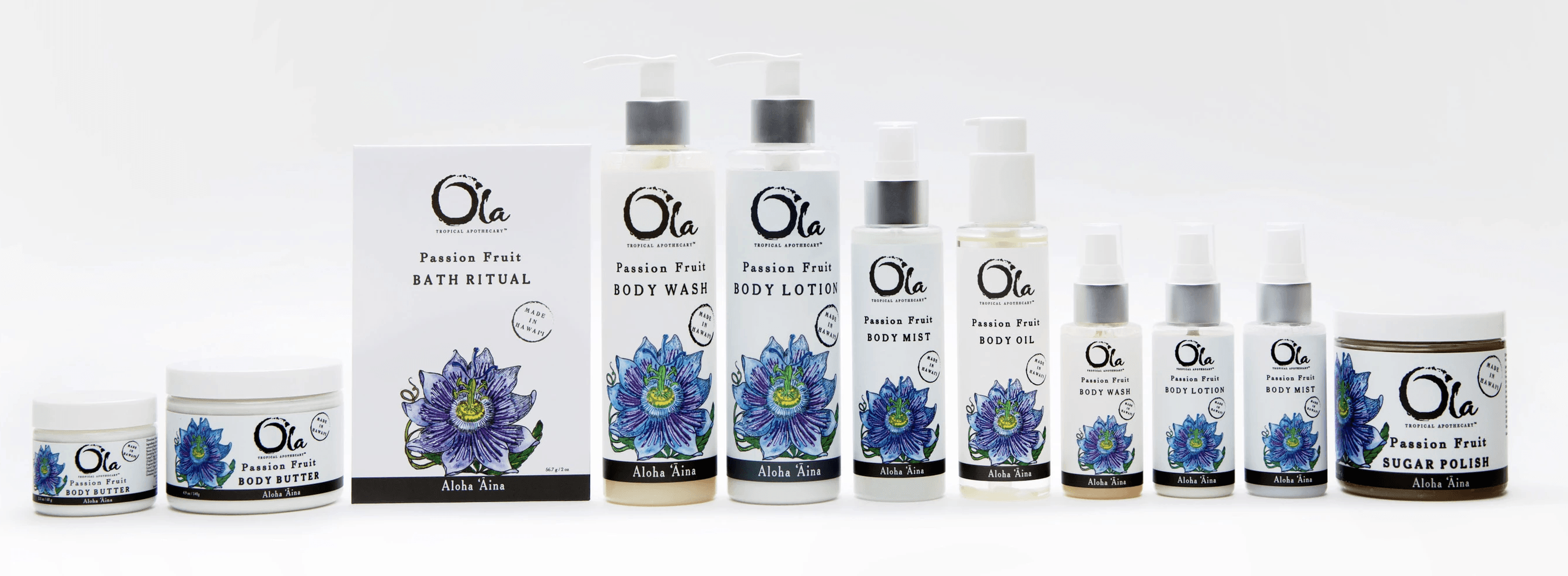 Ola passion fruit product line