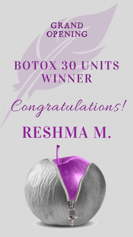 Botox 30 units draw winner announcement