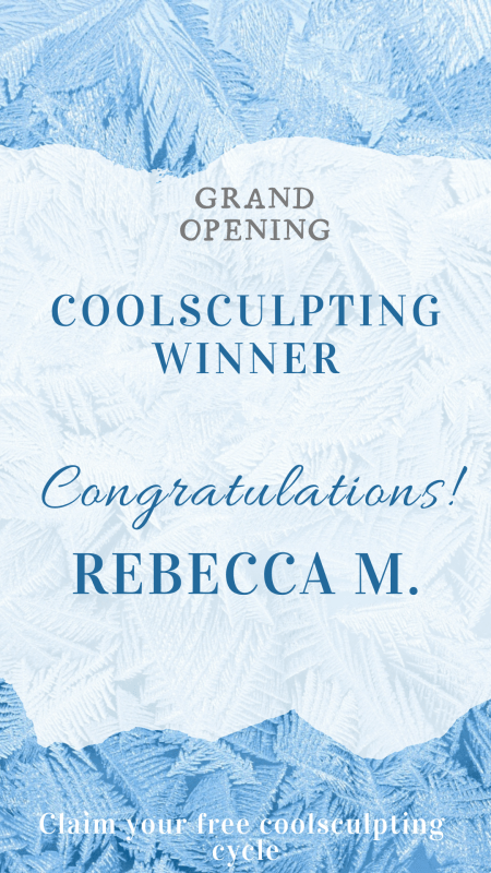 Coolsculpting draw winner announcement