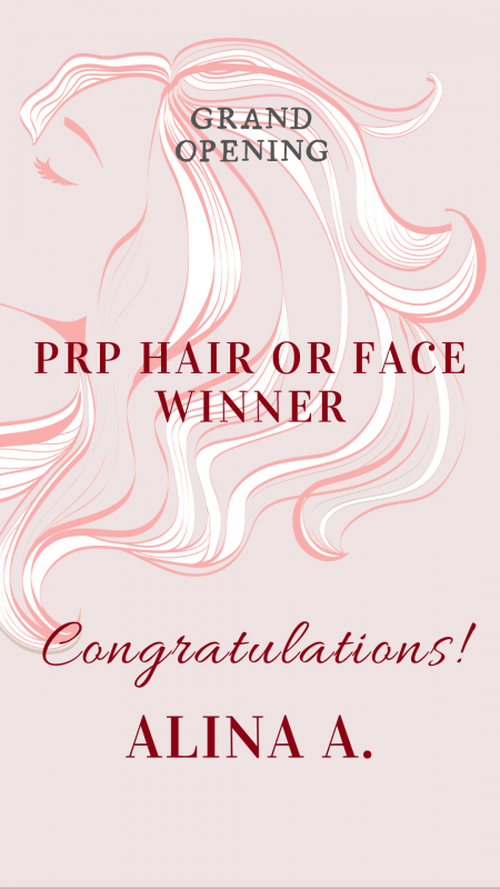 PRP hair or face draw winner announcement