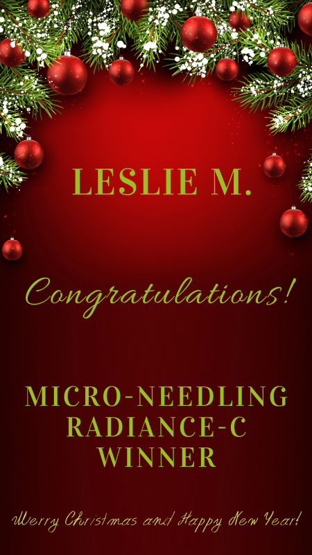 Microneedling draw winner announcement