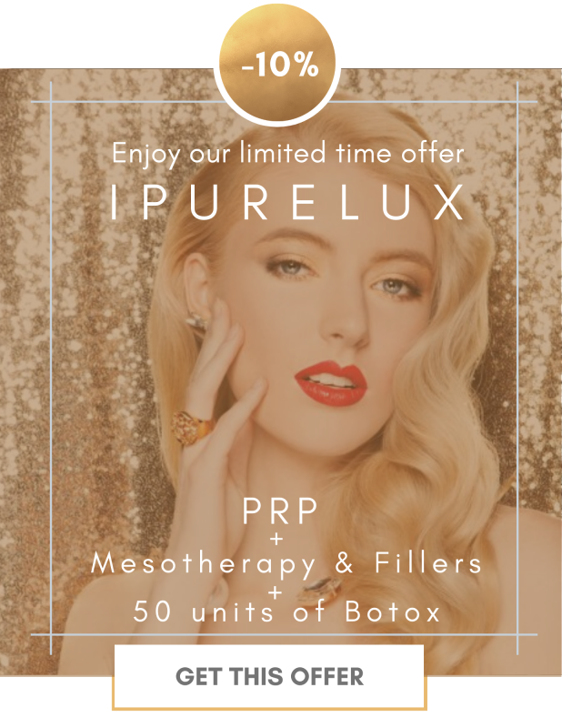 Glam young woman. iPureLux package treatment promotion